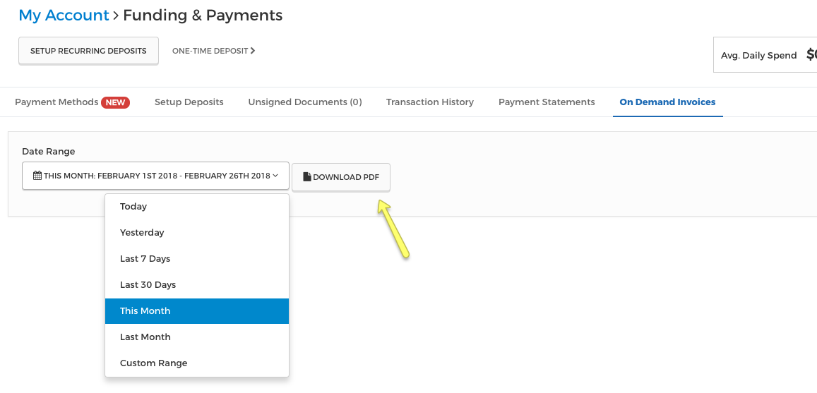 download invoices for your account rtx platform support