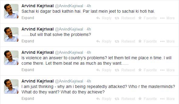 kejriwal tweets