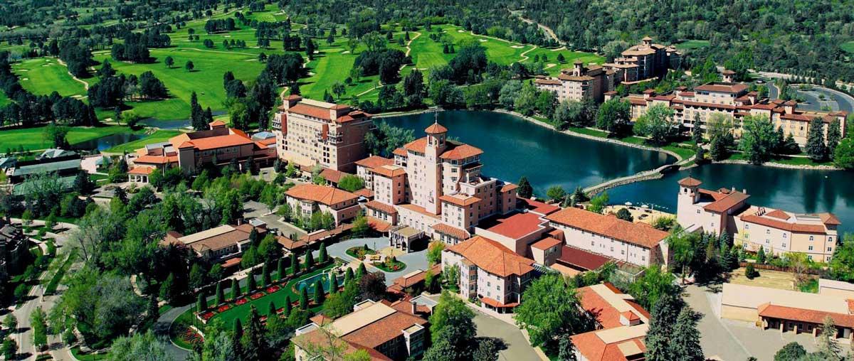 Stunning overhead view of The Broadmoor
