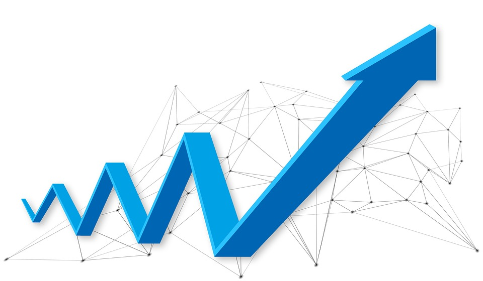 Success, E-Commerce, Profit, Arrow, Blue, White, Graph