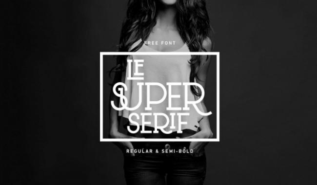 Le Super Serif
