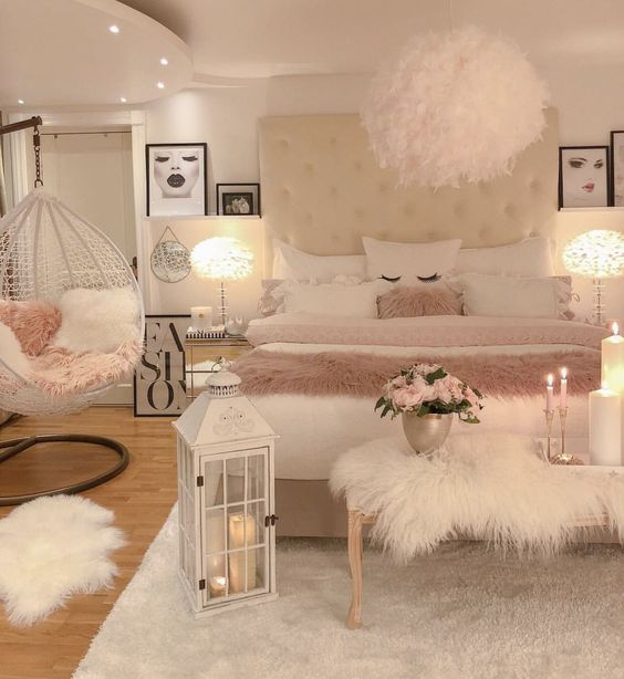 Luxurious Fluffy Bedroom for Young Girls