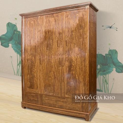 Tủ quần áo gỗ Trắc 3 cánh - TA 070-3