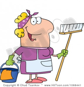 housekeeper-clipart-1068441-clipart-friendly-blond-maid-royalty-free-vector-illustration