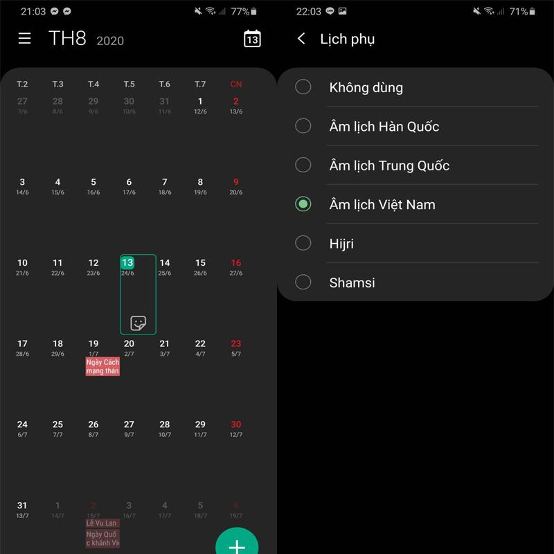 Cách xem lịch âm trên điện thoại iPhone và Android