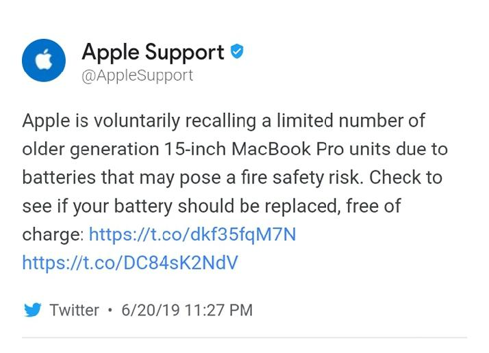 Apple disappoints the consumers once again as it recalls 15 inch MacBook Pro models for a safety check., Tech chums
