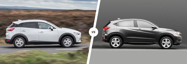 เทียบด้านข้าง Mazda CX-3 กับ Honda HR-V