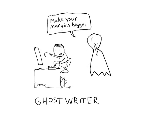 ghost writer animation