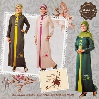 Baju Gamis Mutif Model M38 Koleksi Baju Muslim Gamis