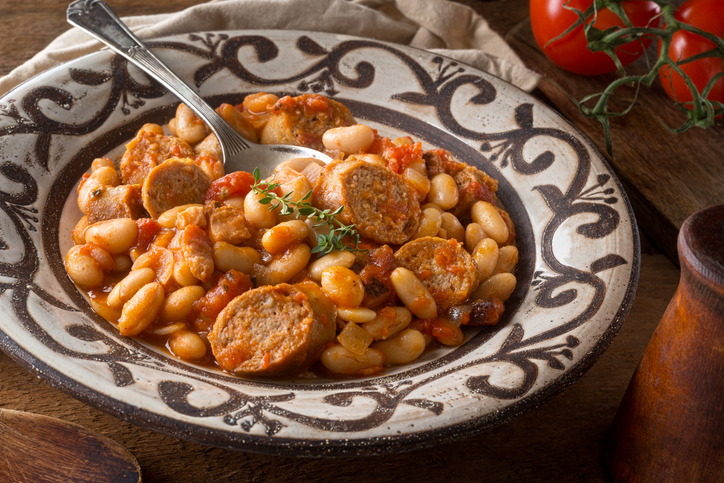 Cassoulet with artisanal sausage, tomato, bacon and white beans