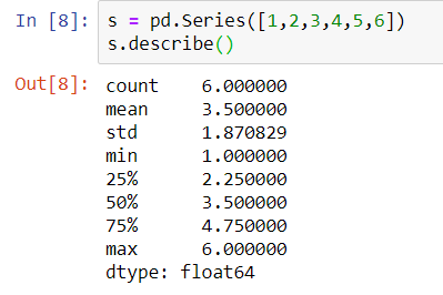 Describe function in python