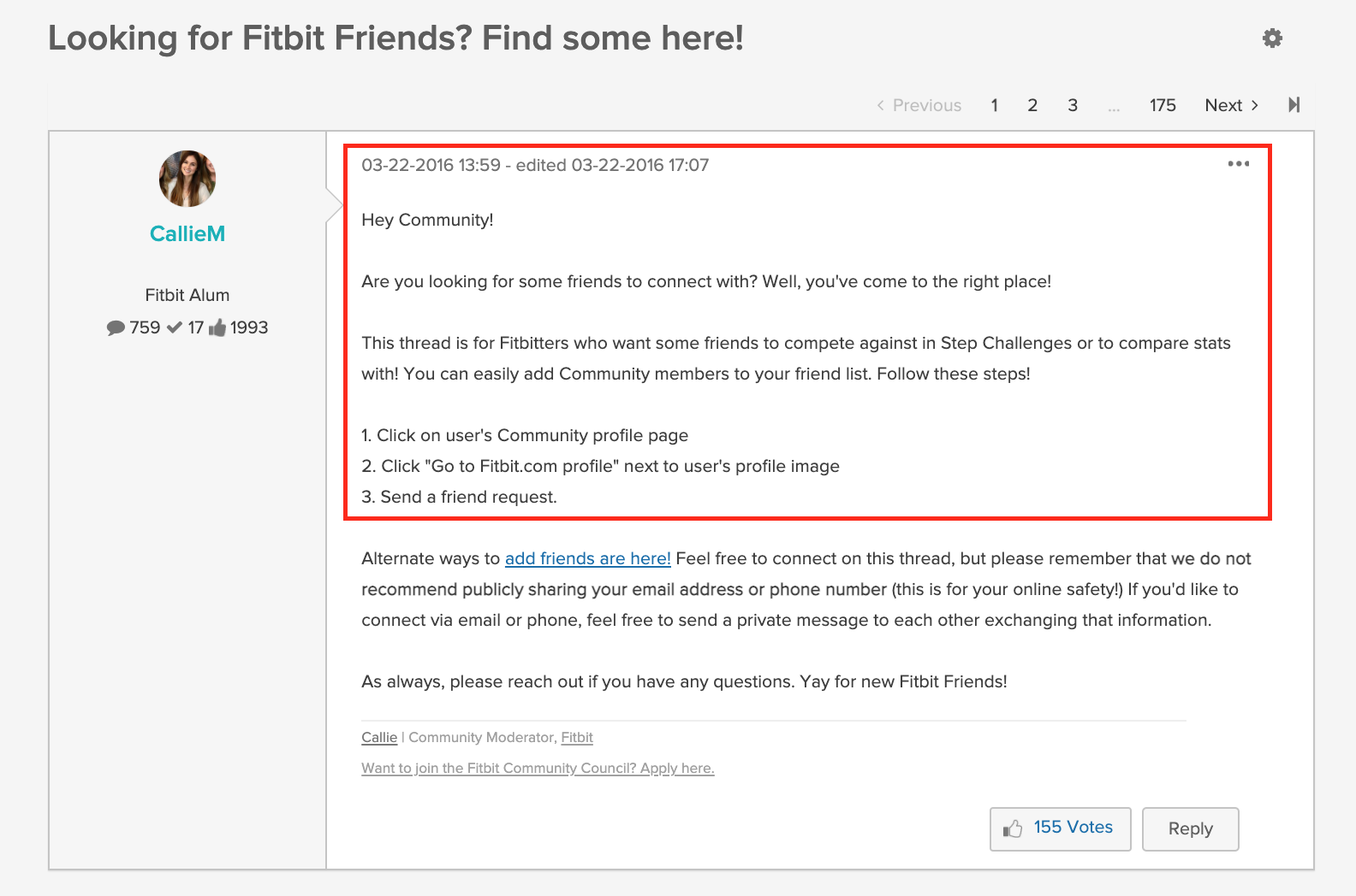 collaboration in Fitbit community