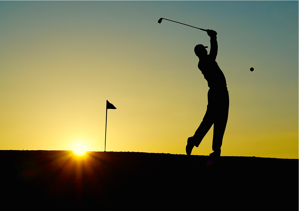 Golf, Sunset, Sport, Golfer,