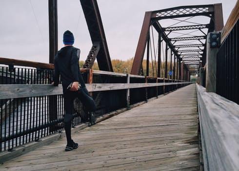 Free stock photo of man, person, bridge, train