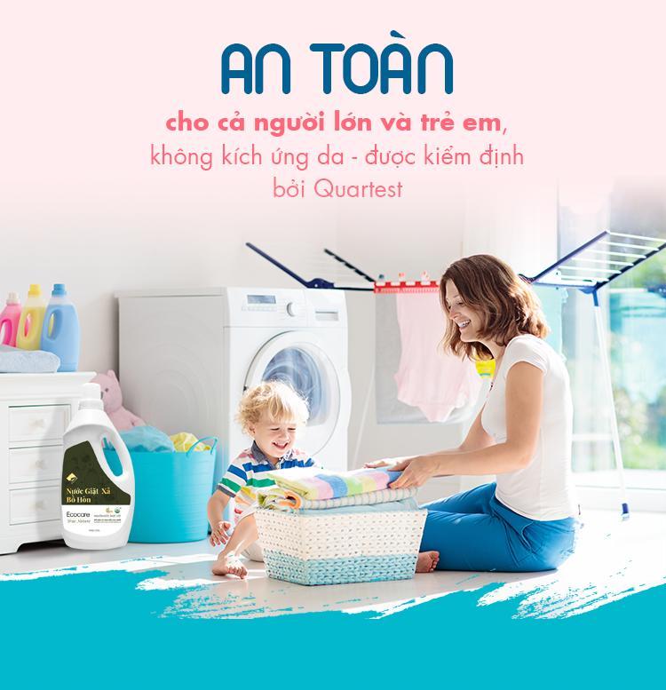Nước giặt cho bé an toàn và thơm ngát