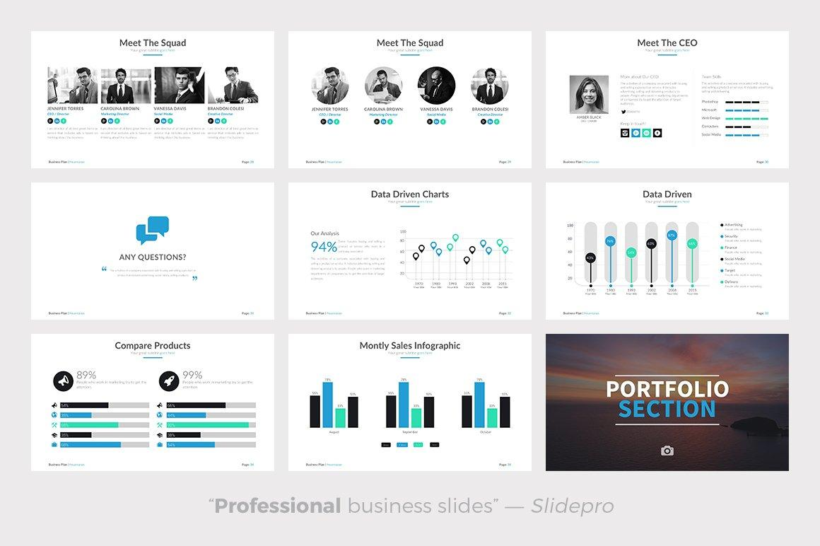 Business Plan Powerpoint Template - Presentations on Slideforest