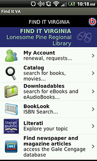 Lonesome Pine Regional Library in the Find It Virginia App