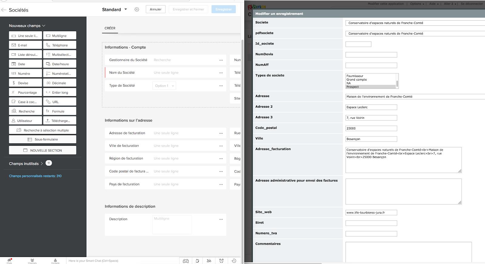 Zoho CRM Import de données provenant de Zoho Creator