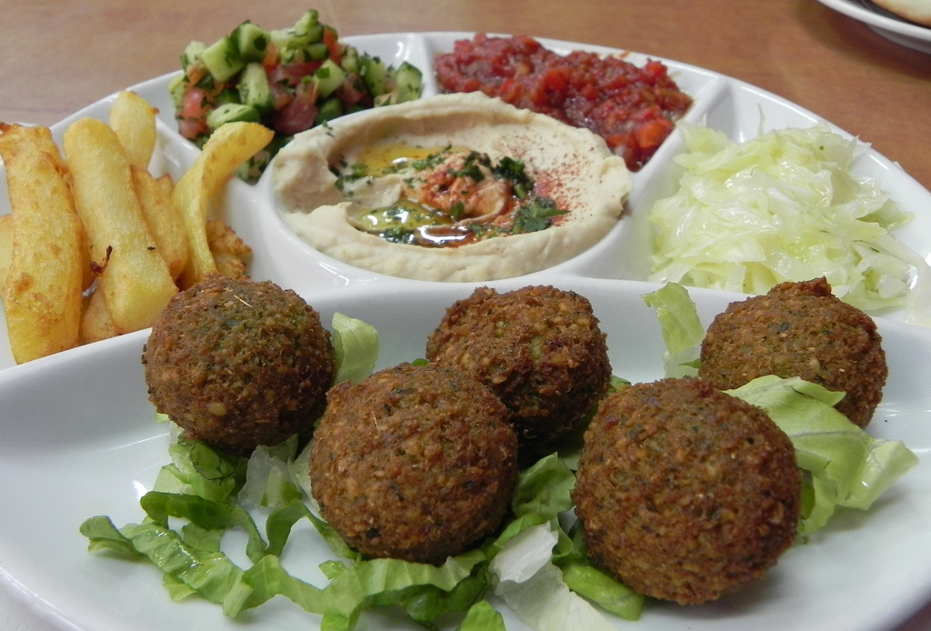 Falafel! | With chips, salad and of course hummus! Old City,… | Flickr