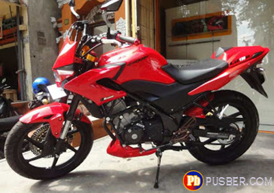 Modifikasi Honda CB150r Merah Street Fighter