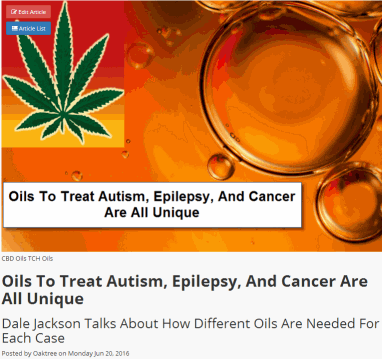 treatment of autism, epilepsy and cancer