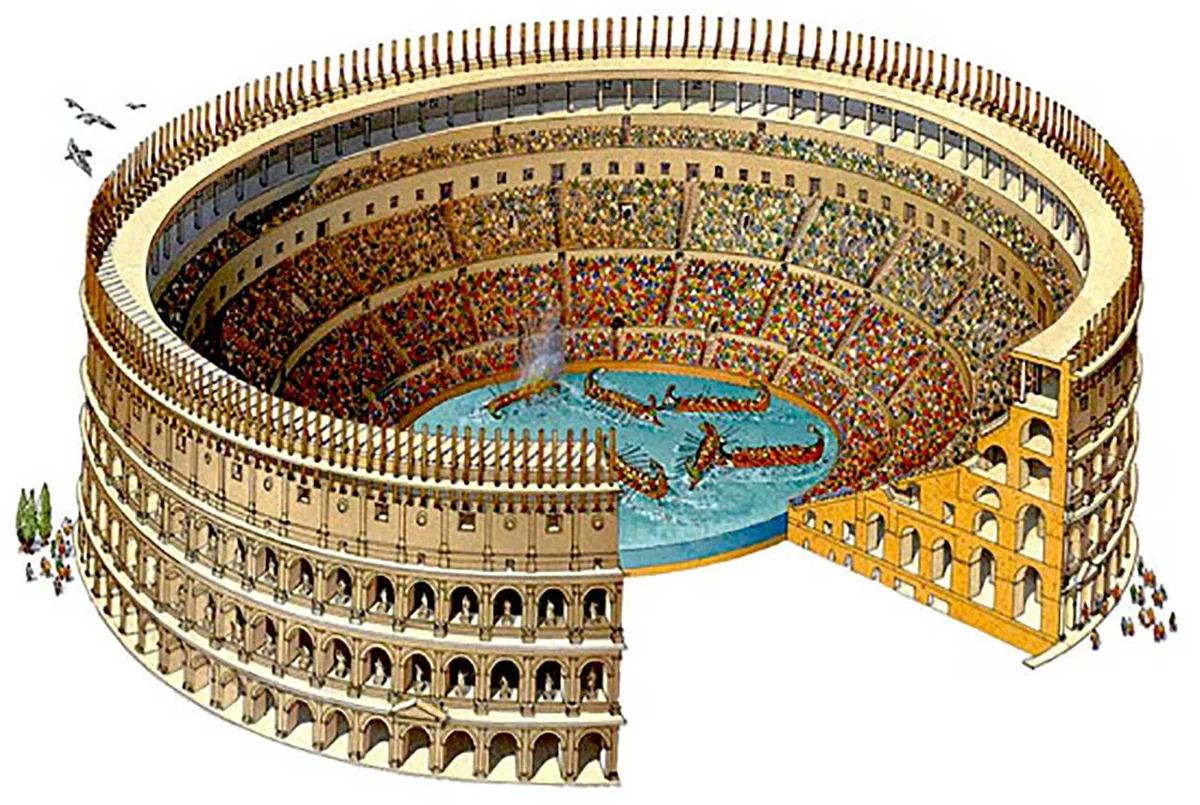 Морские бои в Колизее