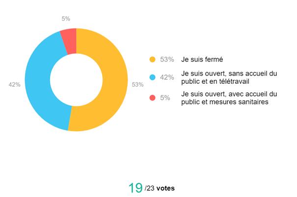 Statistiques sur le mode de travail des 23 Participants - Club Aleva