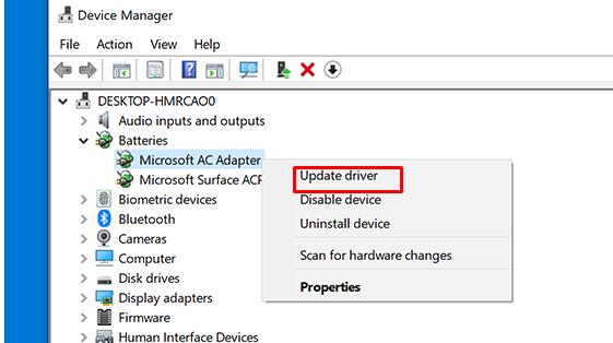 WSAPPX high disk usage -update driver
