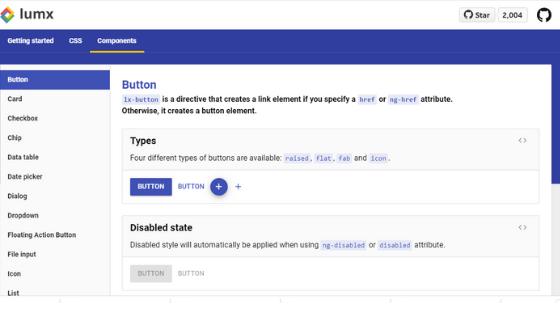 Angular UI Framework:LumX