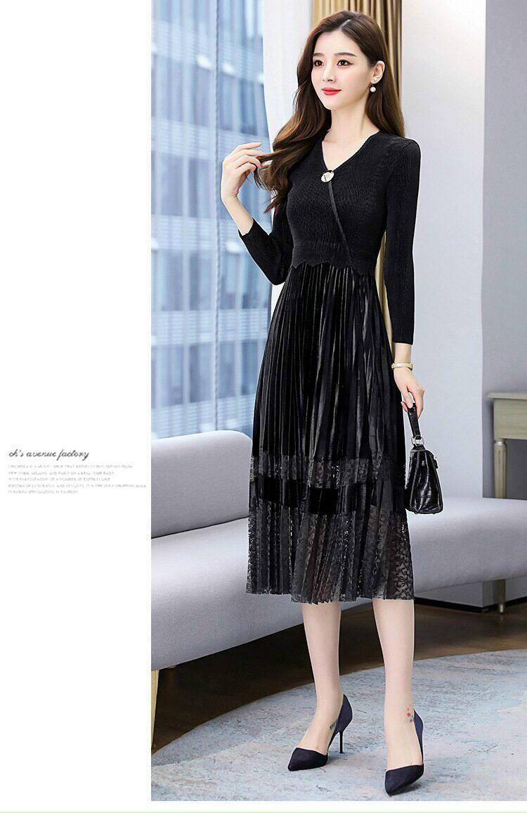 Đầm Dập Ly Nhung Cao Cấp - HN1000