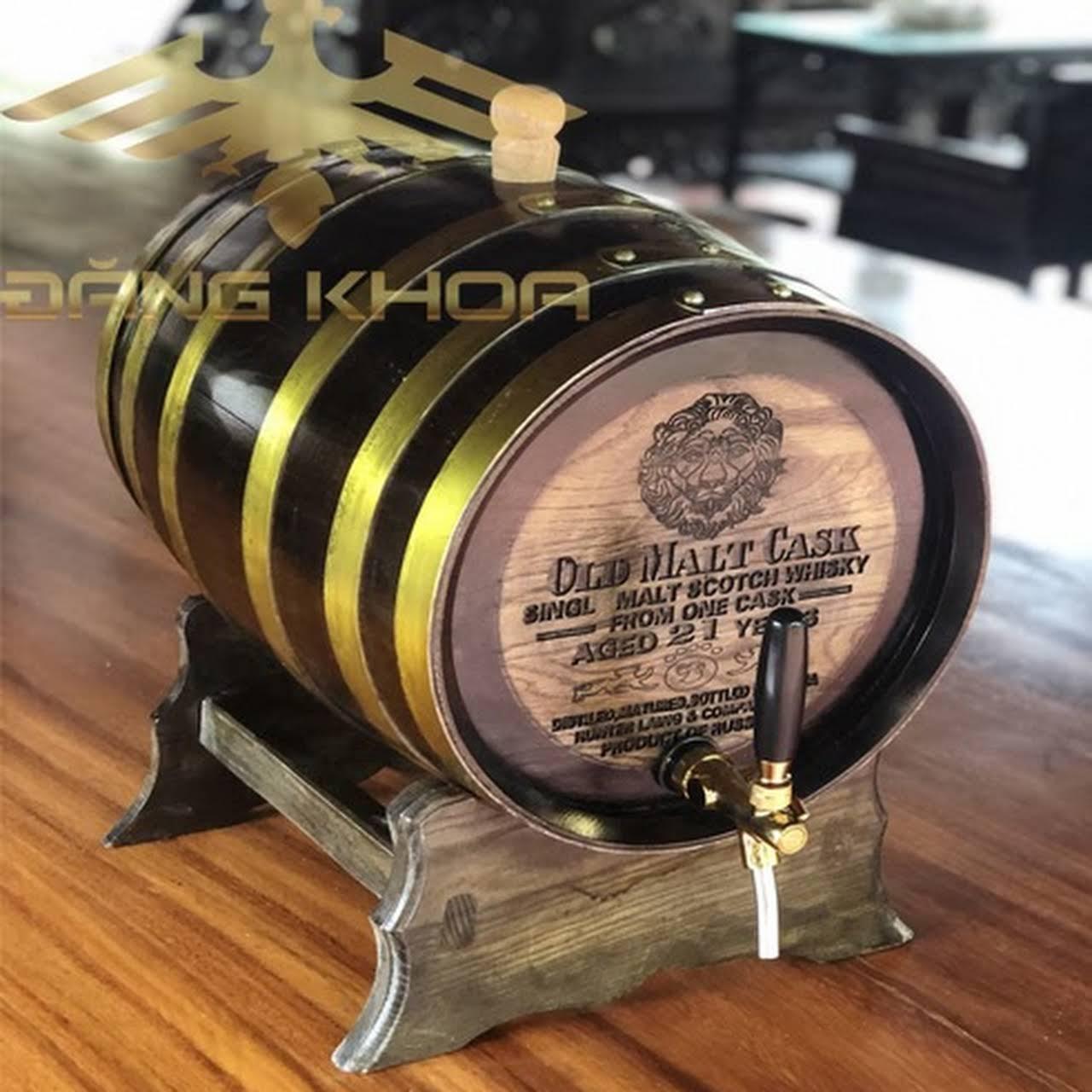 Thùng gỗ đựng rượu Trống Đăng Khoa cao cấp