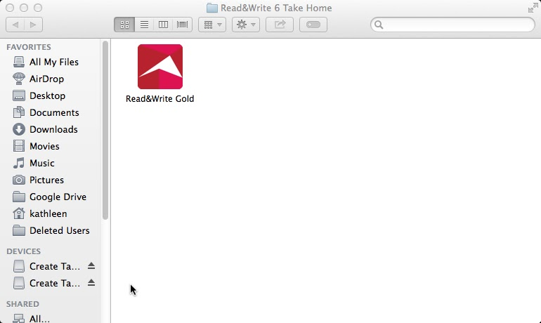 Read&Write icon window
