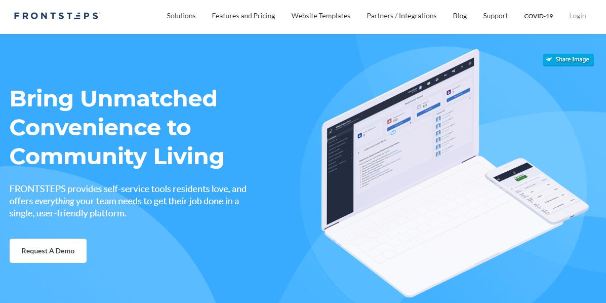 The Frontsteps website