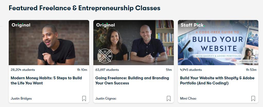 Featured freelance & entrepreneurship classes