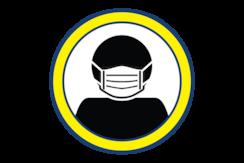 Illustration of a face mask.