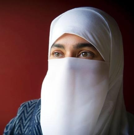 Mahwash Fatima, wearing a Niqab, has mastered non-verbal communication.