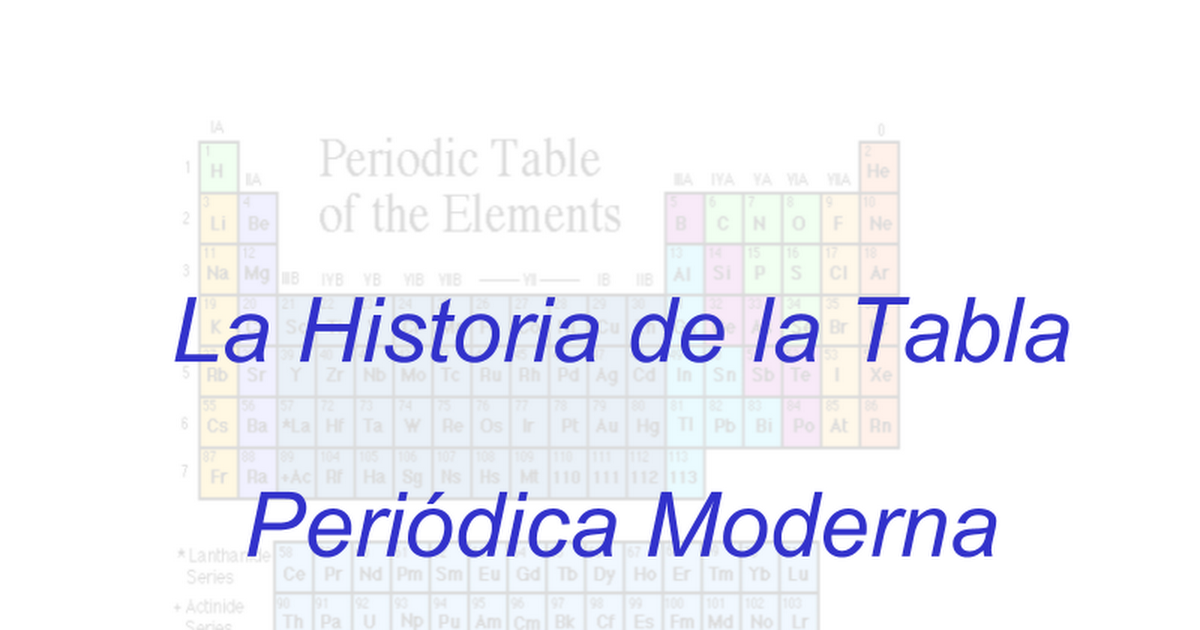 Historia tabla periodica google slides urtaz Choice Image