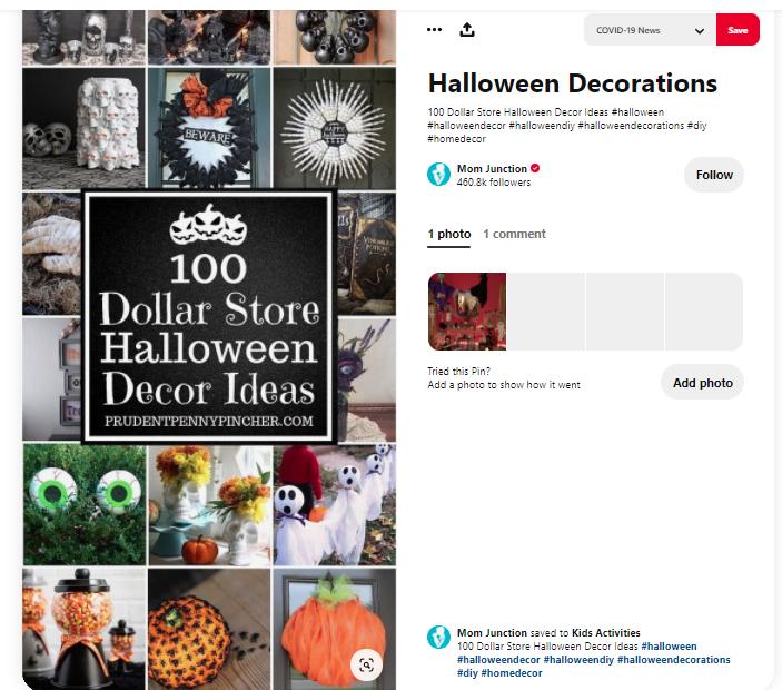 Pinterest hỗ trợ người dùng thử và review các ghim mà họ thích (cre: theshelf)