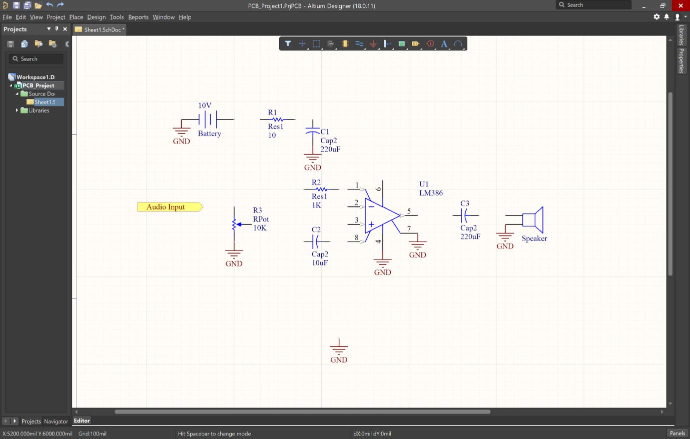 Altium Designer ground connections