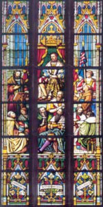 Medieval stained glass window courtesy of NanoBioNet