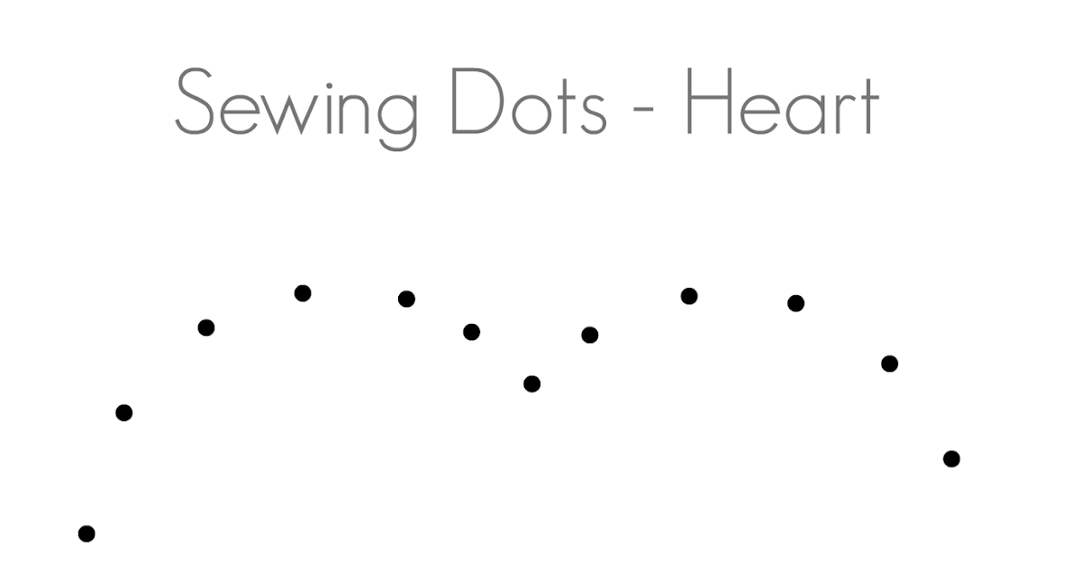 Sewing Dots Heart Pattern Png Google Drive