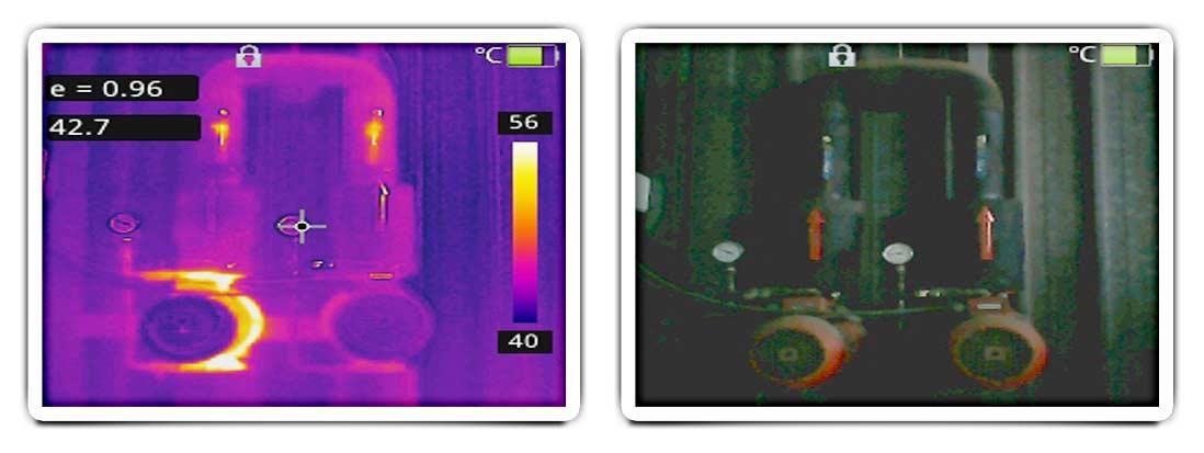 Cámaras termográficas para detección de puntos calientes en cuadros eléctricos, motores y máquinas
