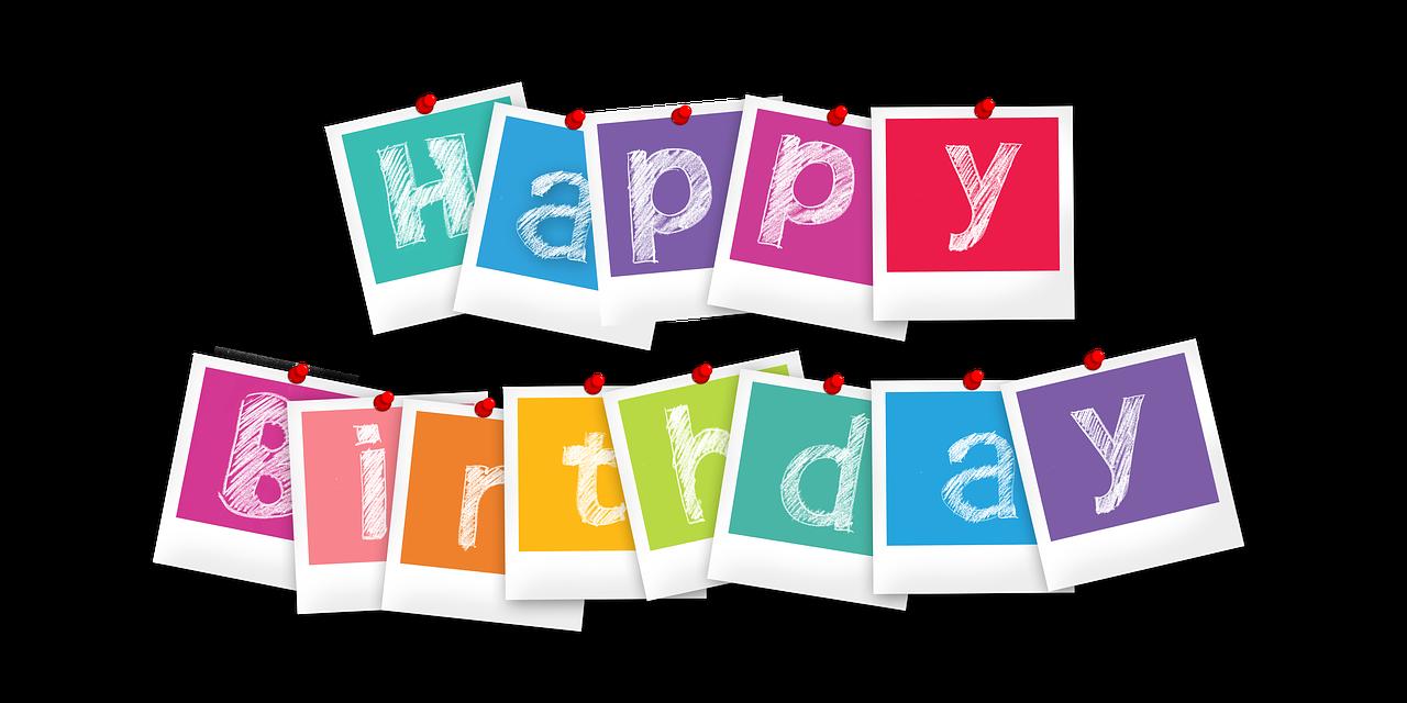 Happy birthday in polaroid pictures