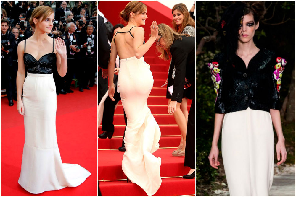 Emma Watson in Chanel Costume at Cannes 2014