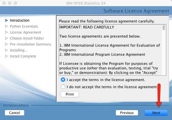 SPSS License Agreement