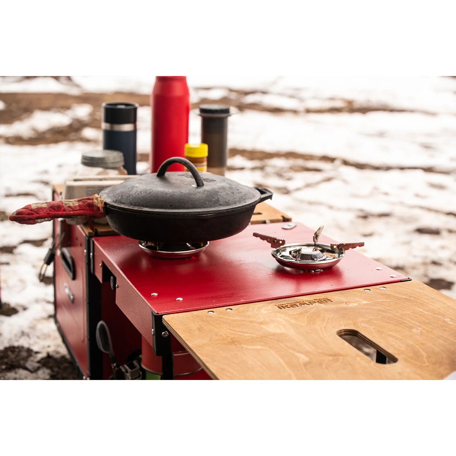 cooking while overlanding