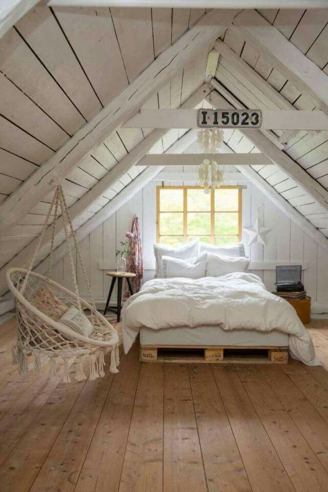 Country Attic Sleeping Space Ideas