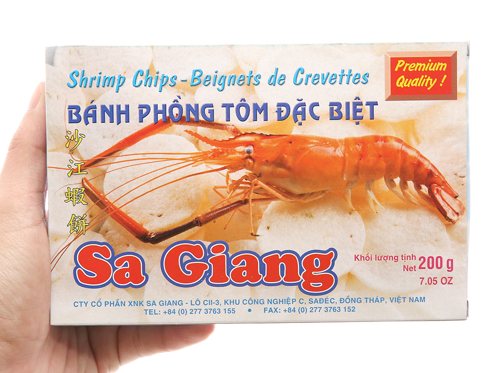 Bánh phồng tôm đặc biệt Sa Giang 200g tại bachhoaxanh.com