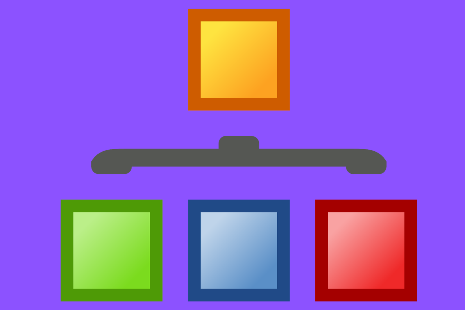 3 subcategory boxes