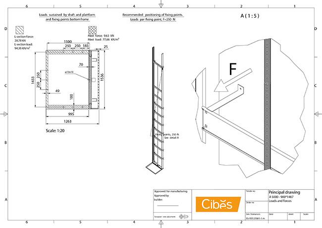 Bản vẽ kỹ thuật thang máy A5000 phần 2